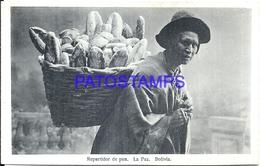 101427 BOLIVIA LA PAZ COSTUMES SELLER REPARTIDOR DE PAN POSTAL POSTCARD - Bolivia