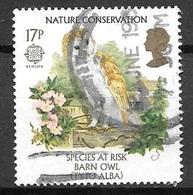 1986 Common Barn Owl, 17p, Used - 1952-.... (Elizabeth II)
