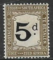 South Africa, 1915, 5d Black & Sepia, Postage Due, MH * - Postage Due