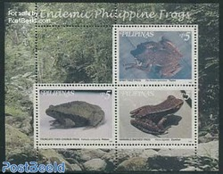 Philippines 1999 Frogs S/s, (Mint NH), Nature - Frogs & Toads - Reptiles - Philippines