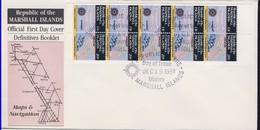 MARSHALL 1984 3 FDC CARTES CARNET YVERT N°C63a-63b-64a - Marshall