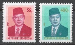 Indonesia 1987 Mi# 1245-46** DEFINITIVES, PRESIDENT SUHARTO - Indonesia