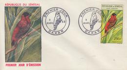 Enveloppe  FDC  1er  Jour   SENEGAL  Oiseau  :  Franciscain   1963 - Sénégal (1960-...)