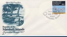 MARSHALL 1987 FDC CARTES YVERT N°146 - Marshall
