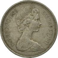Monnaie, Grande-Bretagne, Elizabeth II, 5 New Pence, 1968, TB+, Copper-nickel - 1971-… : Monnaies Décimales