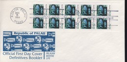 PALAU 1984  3 FDC CARNET POISSONS YVERT N°C42a-42b-43a - Palau