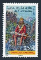 Andorra Fr 673,MNH. Legend Of Charlemagne's Chair,2010. - French Andorra
