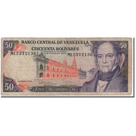 Billet, Venezuela, 50 Bolivares, 1992-12-08, KM:65d, B+ - Venezuela