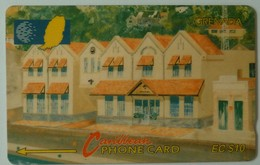 GRENADA - GRE-6A - GPT - 6CGRA - $10 - New Grentel Building - Used - Grenada (Granada)