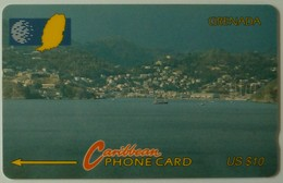 GRENADA - GRE-7A - GPT - 7CGRA - $10 - Port St Georges - Used - Grenada
