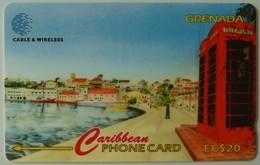 GRENADA - GRE-287C - GPT - 287CGRB - $20 - Carenage - Used - Grenada