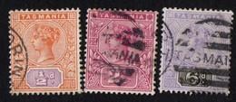 Australia. Tasmania. 1892 -1899 Queen Victoria. Cancelled - 1853-1912 Tasmania