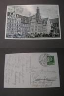 Polen Karte Breslau Ring Mit SST 1938 Turnfest - Polen