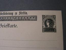 Privatpost Karte Stettin Polen - Occupation 1914-18