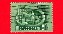 UNGHERIA - Usato - 1951 - Piano Quinquennale - Industria Tessile - 20 - Ungheria