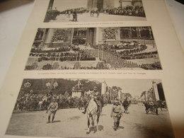 AFFICHE PHOTO DEFILE LE 14 JUILLET  LE GENERAL MANGIN - GOURAUD-MARECHAL PETAIN 1919 - Army & War