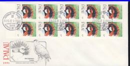 PALAU 1991 FDC OISEAUX CARNET YVERT N°C386a - Marshall