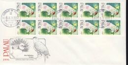 PALAU 1991 FDC OISEAUX CARNET YVERT N°C388a - Marshall