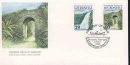 MICRONESIE FDC 1994 TOURISME-PAYSAGES YVERT N°250/51 - Micronésie