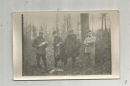 Cp  , Carte Photo , Militaria  , La Chasse Aux Lapins , Militaires ,vierge - Personnages