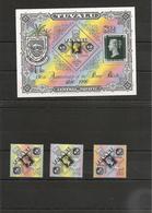 TUVALU Année 1990 Expo Philatélique Mondiale London 90 N°Y/T : 533/35** Et Bloc 40** Côte: 22,00 € - Tuvalu