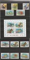 TUVALU Années 1987/89 Faune Vie Marine N°Y/T : 483A/D- 519/522 - 461/463-et Bloc 38** Côte: 37,80 € - Tuvalu