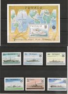 TUVALU Années 1989/90 Navires/Boats N°Y/T : 542/47**et Bloc 39** Côte: 23,00 € - Tuvalu
