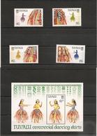 TUVALU Année 1989 Pagne De Cérémonie N°Y/T : 511/514**-  Et Bloc 37** Côte: 13,50 € - Tuvalu