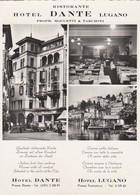 "12143-RISTORANTE HOTEL ""DANTE"" - LUGANO-FG - Hotels & Restaurants"