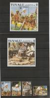 TUVALU Année 1988 10ème Anniversaire De L'Indépendance N°Y/T : 504/07**- Et Bloc 32/35****  Côte : 20,50 € - Tuvalu
