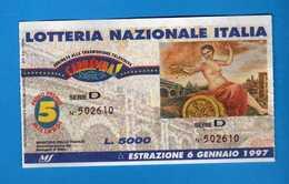 Lotteria Nazionale CARRAMBA Che SORPRESA 1997, SERIE D 502610. Vedi Descrizione. - Biglietti Della Lotteria