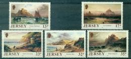 JERSEY N°490 / 494 Série Tableaux 1989 N Xx TB.cote:8.00 €. - Jersey