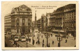 CPA - Carte Postale - Belgique - Bruxelles - Place De Brouckère Et Monumenrt Anspach - 1932 (SV5923) - Places, Squares