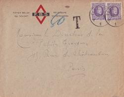 Lettre Elsenborn Belgique Foyer Du Soldat Belge Belgische Soldatenkring Albert 1er Type Houyoux - 1922-1927 Houyoux