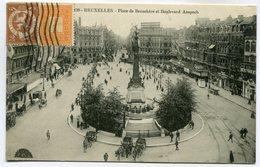 CPA - Carte Postale - Belgique - Bruxelles - Place De Brouckère Et Boulevard Anspach (SV5925) - Places, Squares