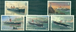 JERSEY N°485 / 489 Série Bateaux De 1989  N Xx TB.cote:8.00 €. - Jersey