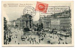 CPA - Carte Postale - Belgique - Bruxelles - Place De Brouckère - 1923 (SV5927) - Places, Squares