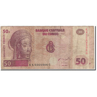 Billet, Congo Democratic Republic, 50 Francs, 2000-01-04, KM:91a, B - Congo