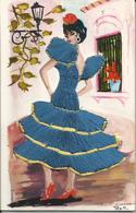 BALLERINA SPAGNOLA INTESSUTA DI FILI DI COTONE (145) - Cartoline
