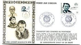 Cachet Illustré Paris Mouffetard Du 23 Novembre 1996 - André Malraux - X 734 - WW2
