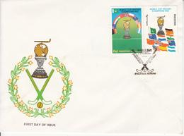 1982 Pakistan Field Hockey   FDC - Pakistan