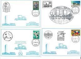 1602p: UNO- Wien 4 Weisse Karten - Wenen - Kantoor Van De Verenigde Naties