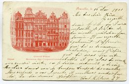 CPA - Carte Postale - Belgique - Bruxelles - Grand Place - 1901 (SV5931) - Marktpleinen, Pleinen