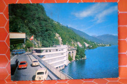 DOGANA BRISSAGO CONFINE ITALIA SVIZZERA Animata Cars Bus CARTOLINA 1971 Viaggiata - Dogana