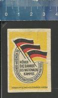 KONSUM GENOSSENSCHAFTSTAG LEIPZIG 1955 OLD Matchbox Label Former DDR - Boites D'allumettes - Etiquettes