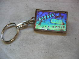 """Porte Clés De La Poste (Avril 1986). """"Bougez Avec La Poste"""", Change De Couleur Selon L'orientation. - Key-rings"""