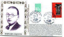 Bureau Temporaire Colleville Sur Mer Du 10 Mai 2003 - Hommage Aux Résistants Bernard Anquetil - X 741 - WW2