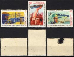 CUBA - 1976 - Natl. Militia, 17th Anniv. (3c); Air Force, 15th Anniv. (13c); Proclamation Of The Socialist Revolutio- MH - Cuba