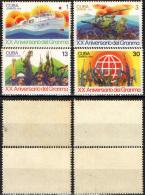 CUBA - 1976 - Granma Landings, 20th Anniv. - MH - Cuba
