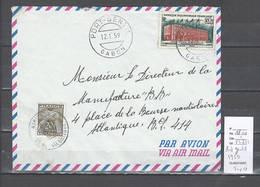 Gabon  - Cachet De Port Gentil - 1959 - Taxée - Marcophilie AEF - - A.E.F. (1936-1958)